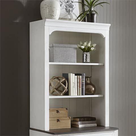 Allyson Park Wirebrushed White Bunching Lateral File Hutch