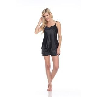 Link to White Mark Women's Satin Cami and Shorts Pajama Set Similar Items in Intimates