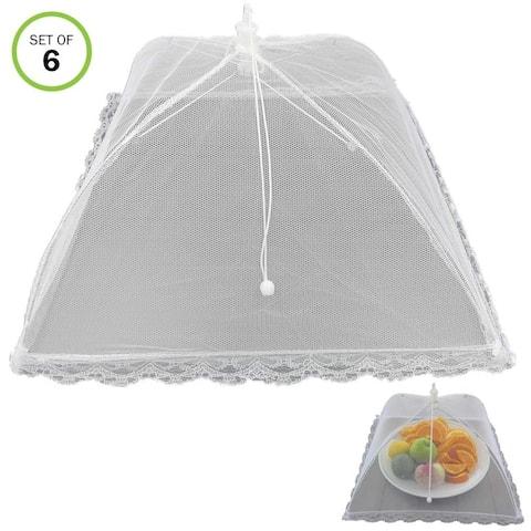 Evelots Pop Up Mesh Food Cover/Umbrella-BBQ/Picnic/Outdoor Party-No Insect-Set/6 - Set of 6