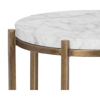Sunpan 102934 Solana End Table - Round - Marble Look