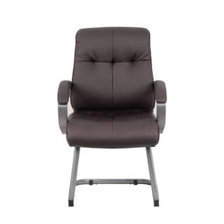 Boss Office Products Double Plush Executive Guest Chair - Bomber Brown