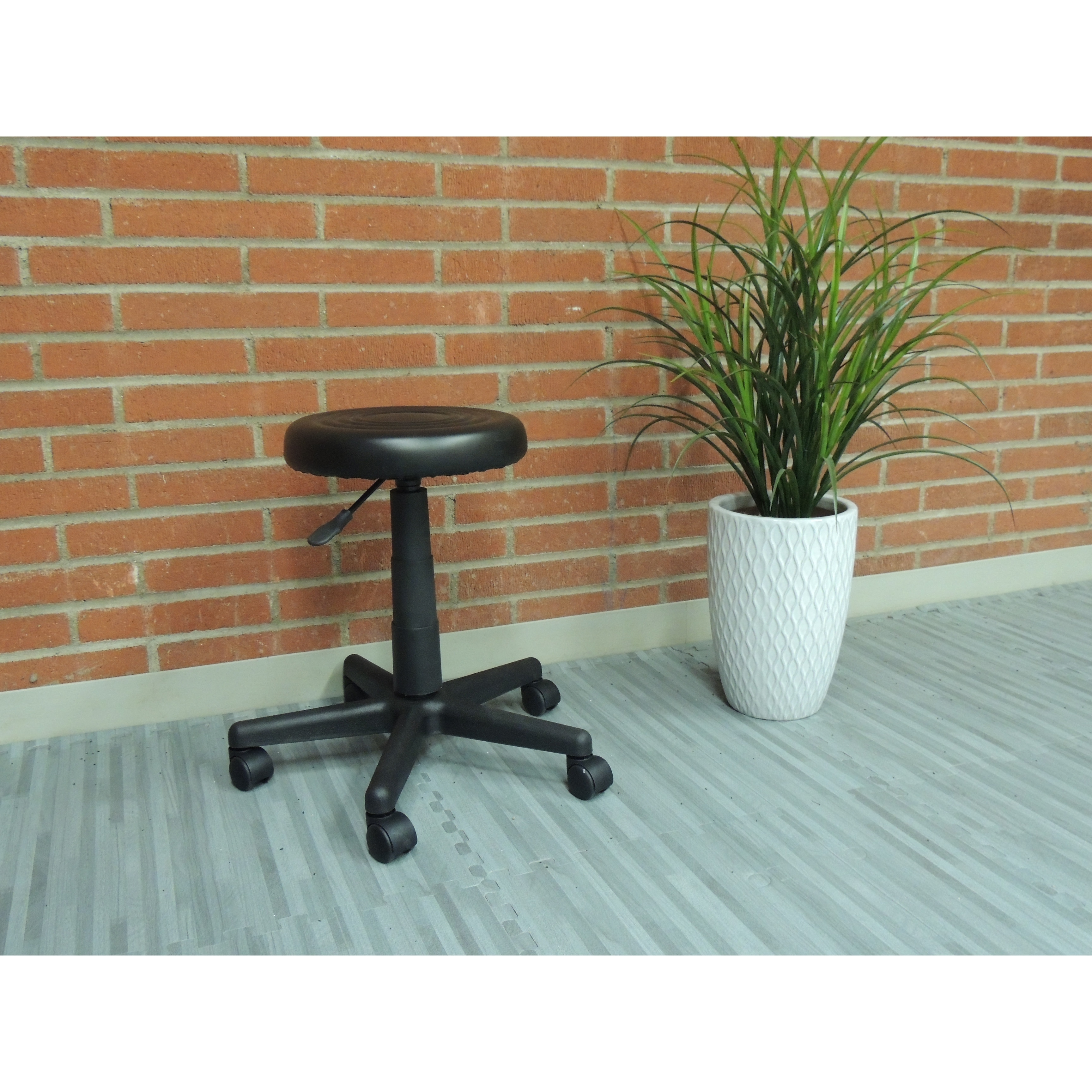 Office Products Black Dot Budget Stool
