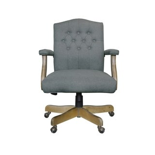 Boss Office Products Executive Mid Black Medium Grey Linen Chair