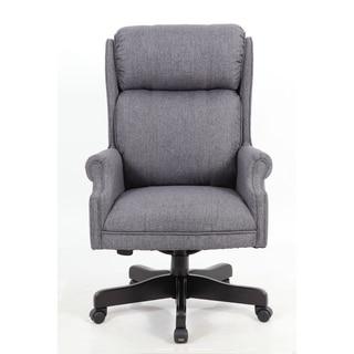 Boss Office Products High Back Slate Grey Commercial Grade Linen Chair