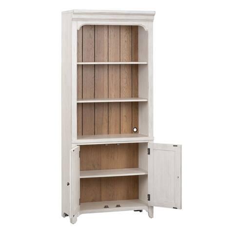 Farmhouse Reimagined Antique White 2-door Bookcase