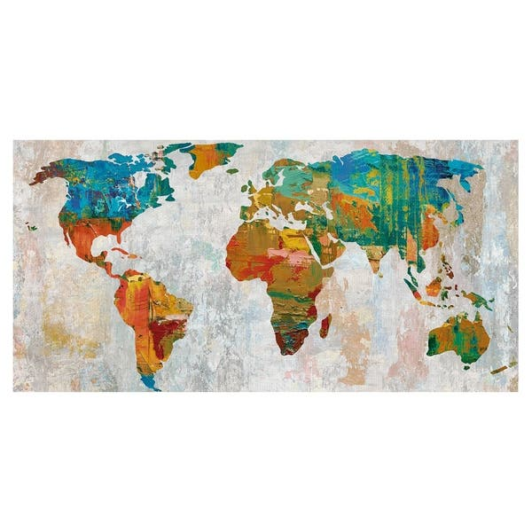 Shop Abstract World Map by Paul Duncan Canvas Art Print ...