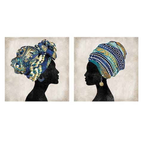 The Curated Nomad Gele I & II Canvas Art Print Set