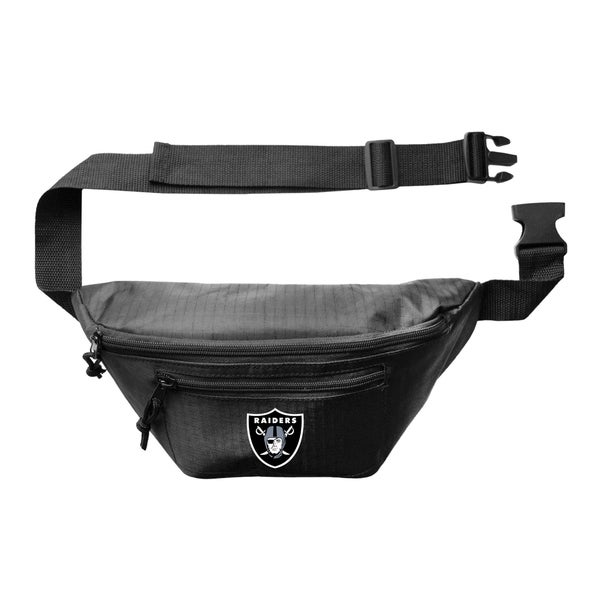 NFL Little Earth Oakland Raiders 3 Zip Hip Pack - Black