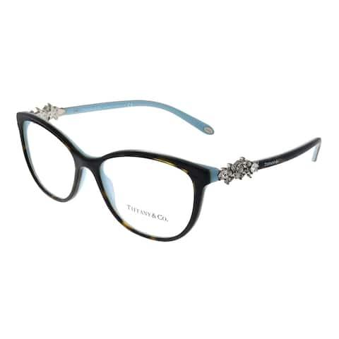 Tiffany & Co. TF 2144HB 8134 54mm Womens Havana on Tiffany Blue Frame Eyeglasses 54mm