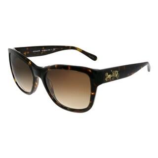New Coach sunglasses HC8243 541713 Dark Tortoise Brown Gradient AUTHENTIC 8243