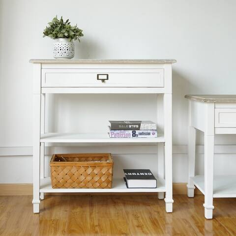 Porch & Den Gatto Console Table, Sofa Table, Accent Side End Table for Entryway Hallway with Drawer & Shelves