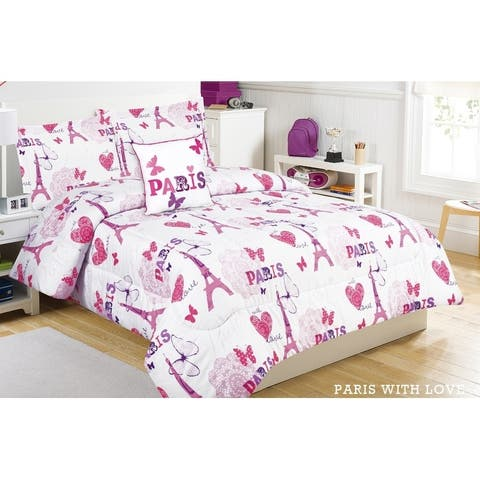 Paris Love 4pc Comforter Set