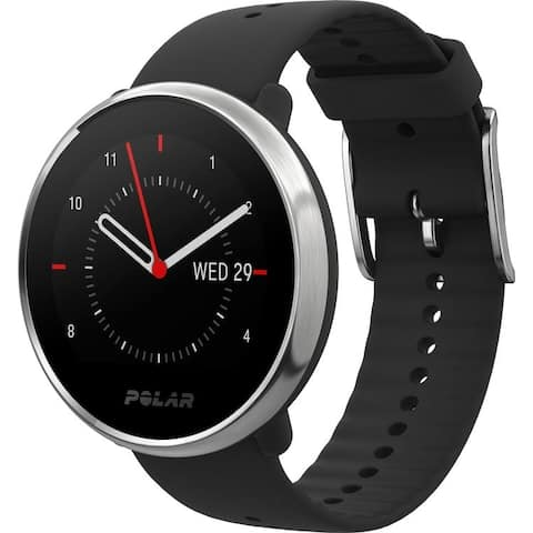 Polar Ignite GPS Fitness Watch with Heart Rate Monitor (M/L, Black/Silver)
