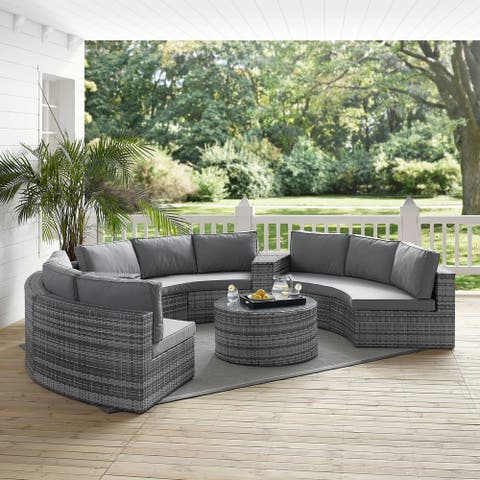 Catalina 6 Piece Outdoor Wicker Seating Set