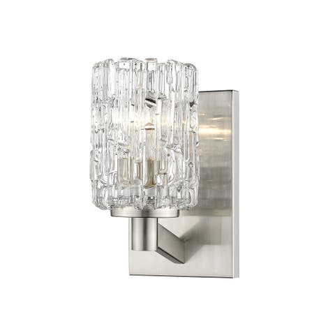 Aubrey 1 Light Wall Sconce in Brushed Nickel