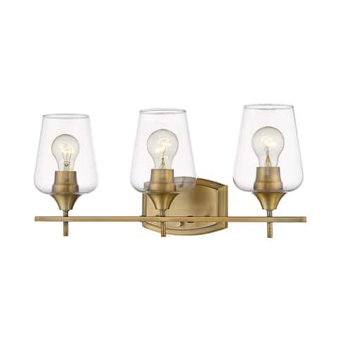 Joliet 3 Light Vanity in Olde Brass