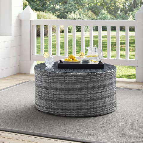 Catalina Wicker Round Coffee Table