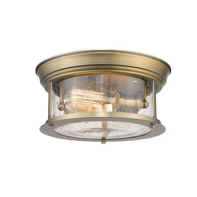 Sonna 2 Light Flush Mount in Heritage Brass