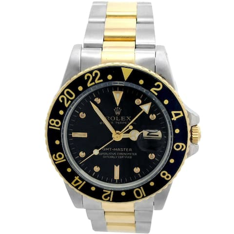 Pre-owned 40mm Rolex 18k Yellow gold and Stainless Steel GMT-Master Watch - N/A - N/A