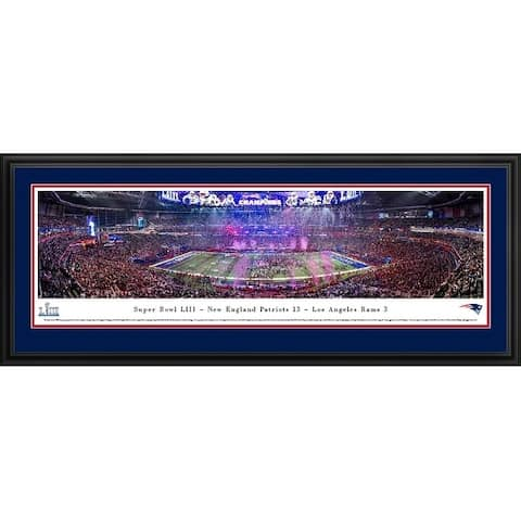 2019 Super Bowl Champs, New England Patriots Framed Panoramic Pictures