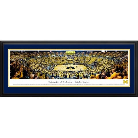 Michigan Wolverines Basketball Framed Panoramic Pictures