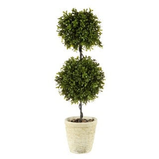 """Link to Regency Spring Boxwood Double Ball Topiary 24"""" Similar Items in Decorative Accessories"""