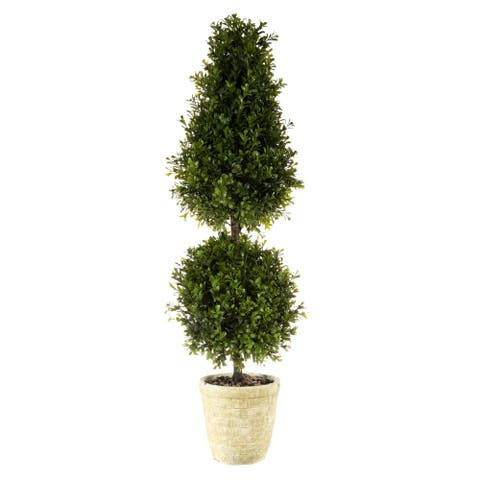 Regency Spring Boxwood Ball Cone Topiary 34""