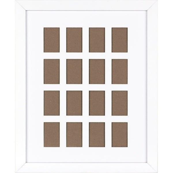 21X17 Collage Gallary Photo White Frame with 16 mini Photo openings