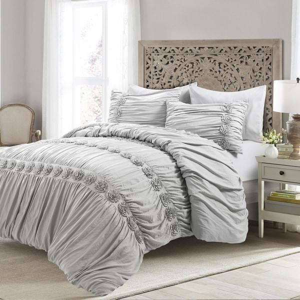 4 Piece Darla 100/% Cotton Comforter Set