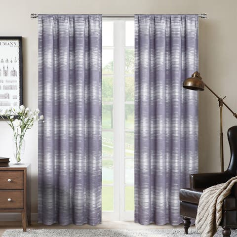 Crescent Double Layer Total Blackout Rod Pocket Single Curtain Panel