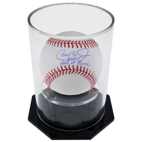 OnDisplay Deluxe UV-Protected Baseball/Tennis/Softball Display Case - Round Black Base