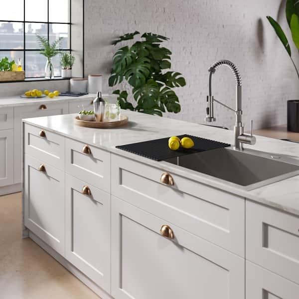 Shop Kraus Stark 33-inch Undermount Drop-in Kitchen Sink ...