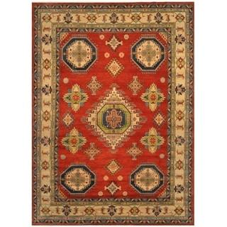 Handmade One-of-a-Kind Kazak Wool Rug (Afghanistan) - 10' x 14'