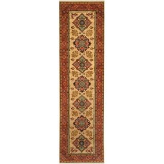 Handmade Kazak Wool Runner (Afghanistan) - 2'9 x 9'10