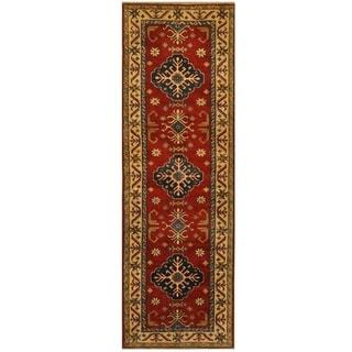 Handmade Kazak Wool Runner (Afghanistan) - 2'10 x 8'10