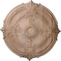 """16""""OD x 1 1/8""""P Carved Acanthus Leaf Ceiling Medallion, Cherry"""