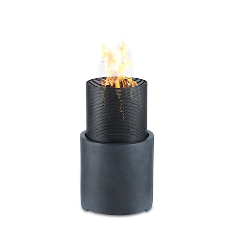 Danya B. 22 inch Wood Burning Faux Stone Fire Column