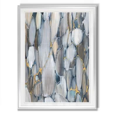 River Rocks -Framed Giclee Print