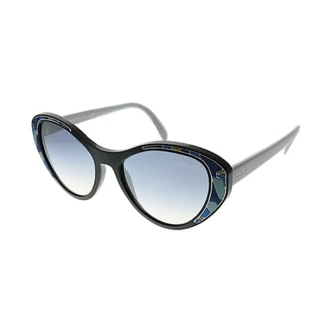 843d53601931 Prada Catwalk PR 14US LDM5R0 Womens Black Frame Blue Gradient Lens  Sunglasses