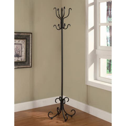 Copper Grove Serenje Black Coat Rack with Curved Feet