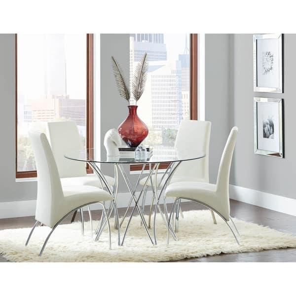 Soneva Chrome Round Dining Table Base Overstock 28628371