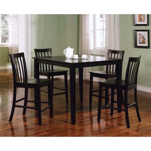 Stefan Black 5-piece Counter Height Dining Set