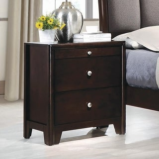 Statesman Dark Merlot 3-drawer Nightstand