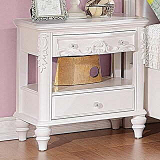 Seraphina Nightstand with Rosette Knobs