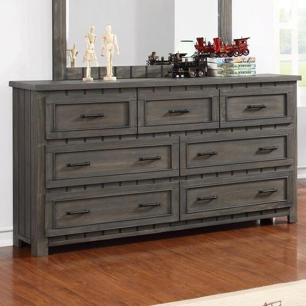 Crawford Gunsmoke 7-drawer Dresser with Paneled Design