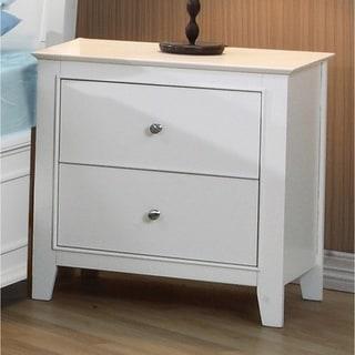 Waverly White 2-drawer Nightstand