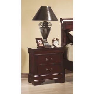 Copper Grove Mfuwe Red Brown 2-drawer Nightstand