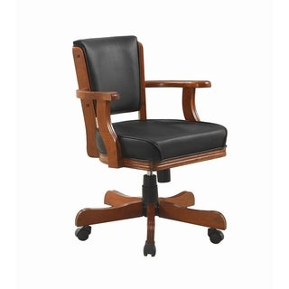 Brianna Chesnut and Black Upholstered Game Chair