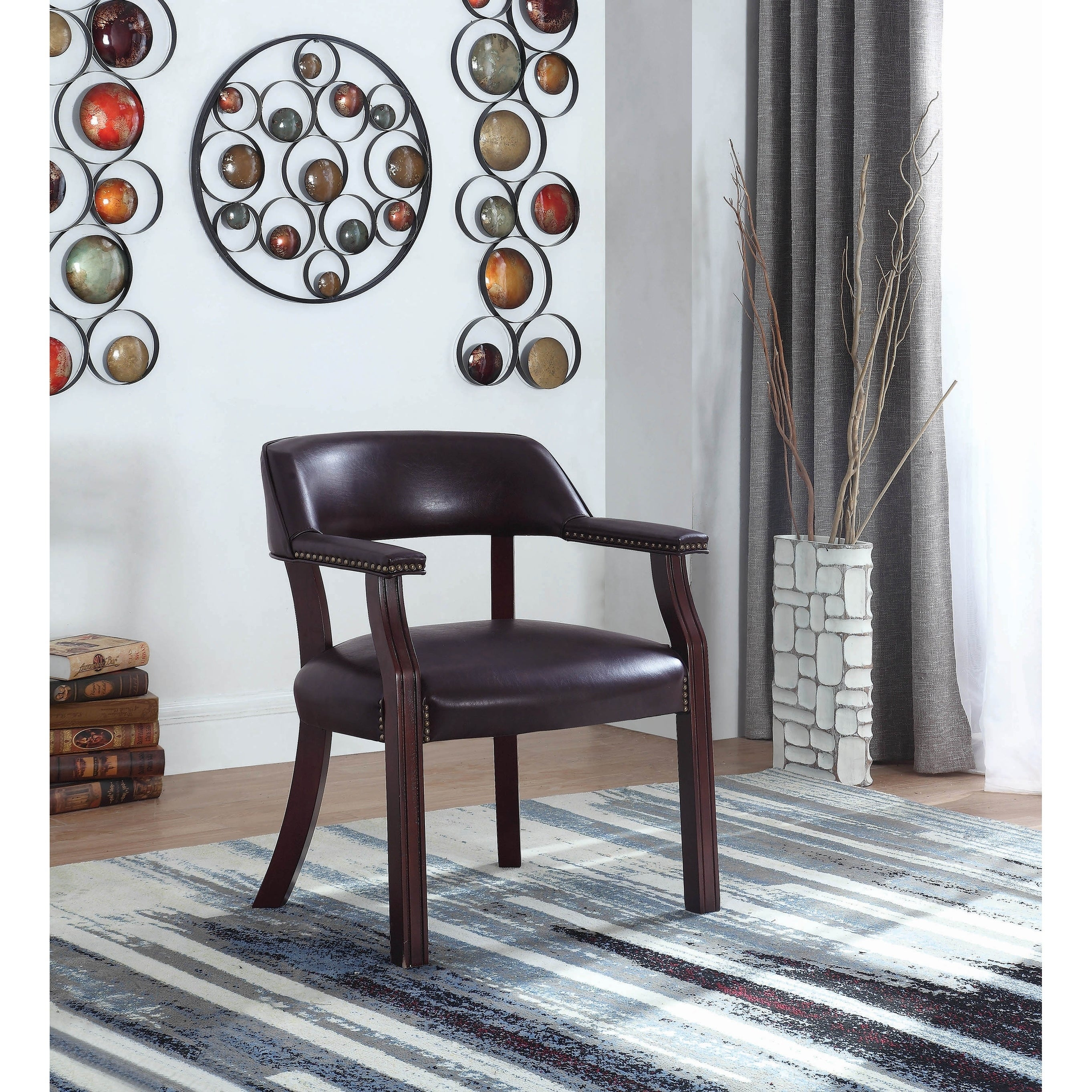 Shop Megumi Brown And Dark Cherry Office Chair Overstock 28630688