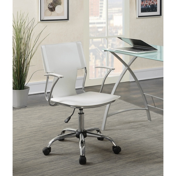 Carlo Adjustable Height Office Chair with Upholstered Seat